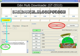 Odin Guide Upgrading samsung Galaxy 551 I5510 to Android 2.3.6 Gingerbread I5510XWKPH step 2